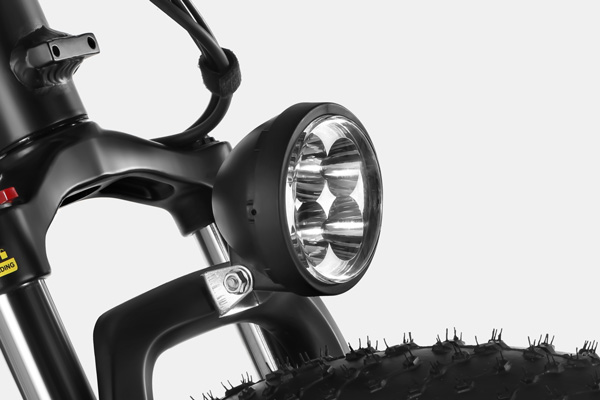 HAIDONG Explorer Electric Fat Bike_ Headlight