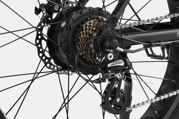 HAIDONG Explorer Electric Fat Bike_ Shimano 7 Speed Derailleur