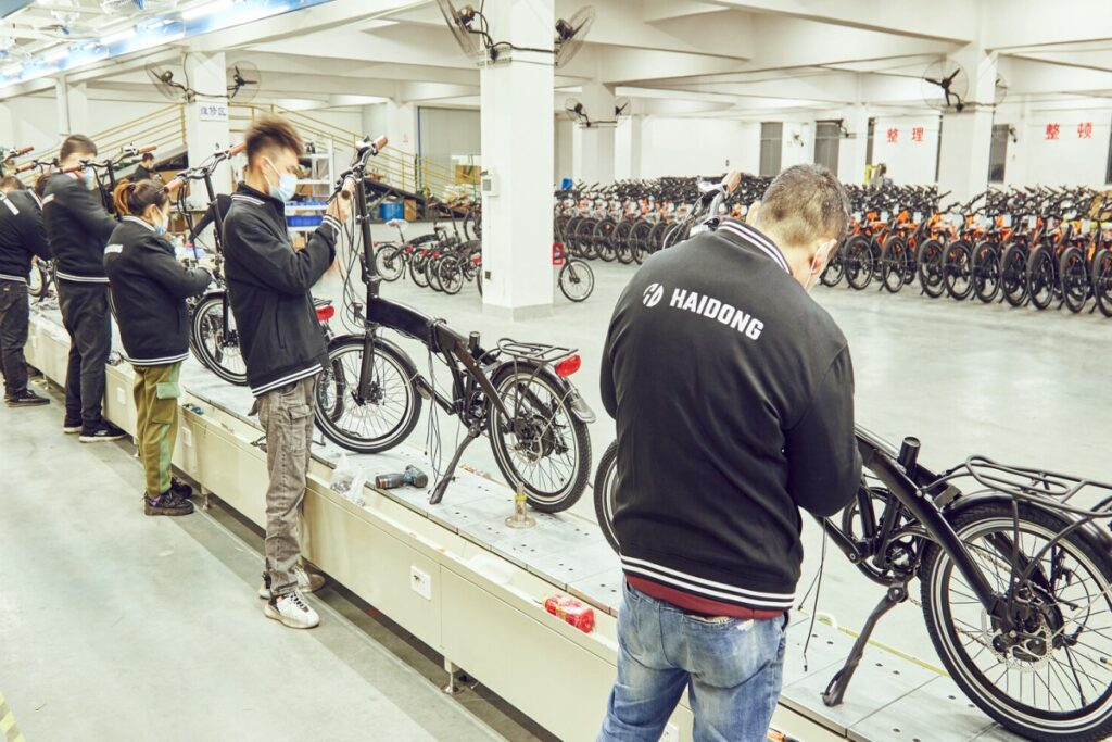 electric bike Assembly line1