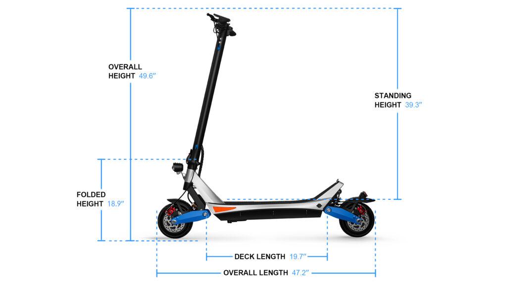 escooter pilot size